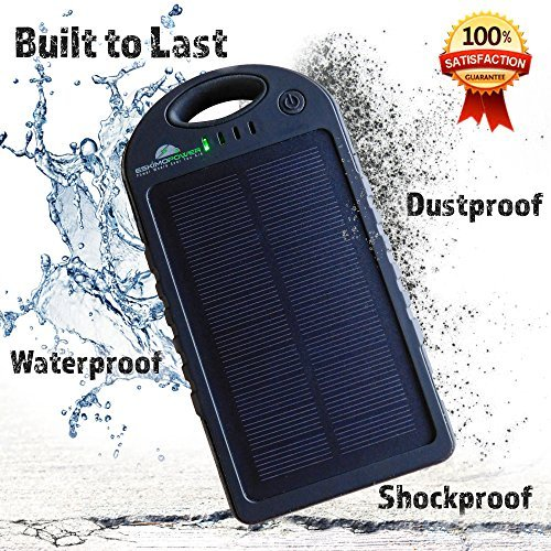Solar Charger 12000mAh, Solar Power Bank, Dual USB Ports, Portable Solar Battery Charger For Cell Phone, iPhone, iPad, Tablet, Laptop, Camera, Waterproof