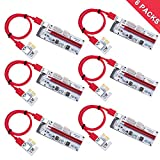 LATTCURE 6-PACK PCIe PCI-E 16x to 1x Powered Riser Adapter...