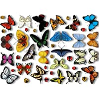Articlings 25 Realistic Butterflies & 17 Ladybird Window Clings Non-adhesive Stickers Quickly Decorate and Brighten your Windows