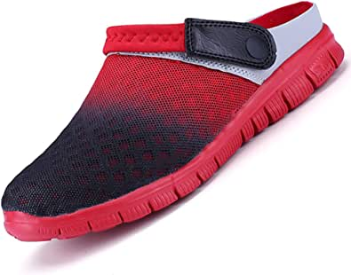Unitysow Mens Womens Breathable Mesh Slippers Beach Sandals Garden Clogs Hollow Out Outdoor Sports Casual Summer Shoes Lightweight Walking Sandals Unisex Mules