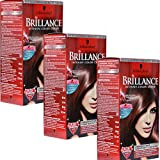 Brilliance 3x Schwarzkopf 876 Edel Mahagoni Haarfarbe Color Creme - 147ml