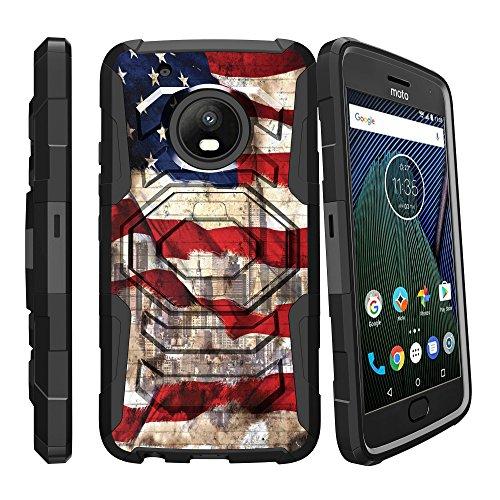 miniturtle Armor Reloaded Fall Kompatibel w/Motorola Moto G5Plus | Moto G Plus (5. Gen.) (xt1687) Holster und Diamant Form Ständer Fall durch miniturtle, American Flag NY American Flag-handy-fall