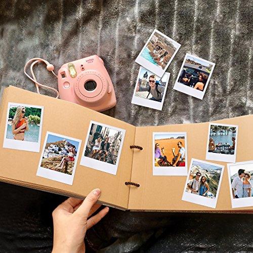 POOTACK Album Fotografico Fai da Te, Our Adventure Book Scrapbook DIY(19x30cm, 80 Pagine) con Penne Colorate, Forbici, Fascia Decorativa in Pizzo, Adesivi - Regalo di Compleanno/Laurea/Nozze - 3