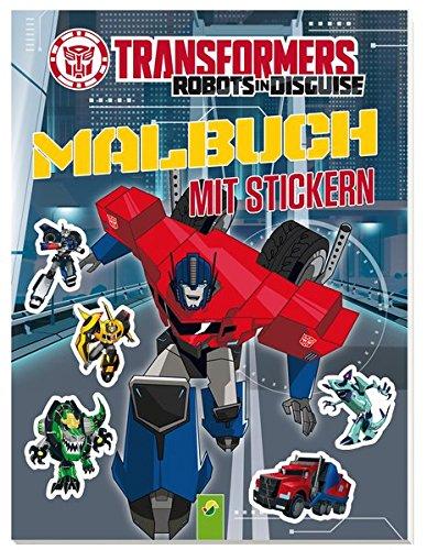 Transformers Malbuch mit Stickern: Mit 40 Stickern (Transformers Prime Kinder)