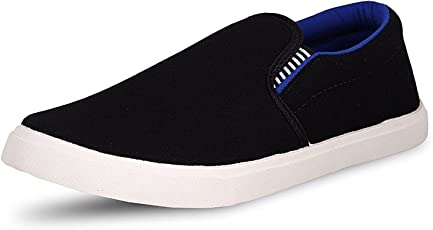 Ethics Men's Pilot Blue Black Casual Loafer Shoes