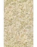 Polsterstoff Möbelstoff Bezugsstoff Meterware für Stühle, Eckbänke, etc. - Gobelin Bunt Blumenmuster Baumwolle - Muster