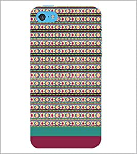 PrintDhaba Tribal pattern D-1887 Back Case Cover for APPLE IPHONE 5C (Multi-Coloured)