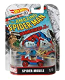 Hot Wheels Modelo Coche 6cm Spider-Mobile Hombre Araña-Escala 1/64Diecast Original Marvel fld31