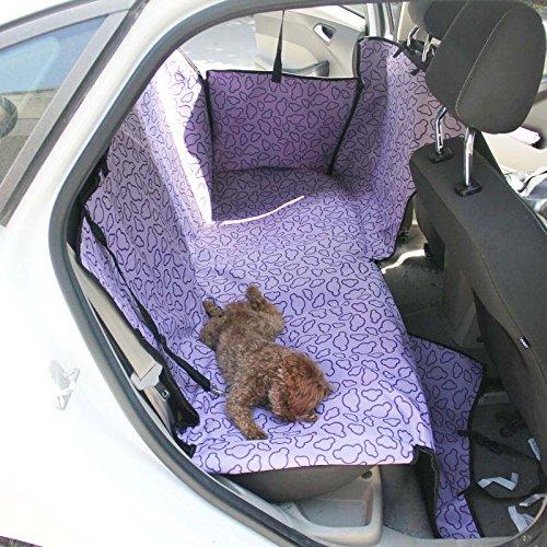 Zulux Chien Voyage Hamac avec réglable snap Buckles Durable épais tissu imperméable voiture Retour Seat Cover for Animals-135 x 47 x 50cm(Violet)