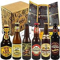 Les 6 bières suivantes sont reconnues dans le Monde entier pour leurs qualités : Barbar Tripel Karmeliet Cuvée des Trolls Pirate Kwak London Porter Le tout accompagné de son guide de dégustation pour tout connaître des bières commandées et du monde d...