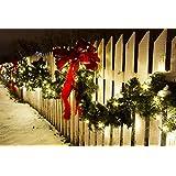 F-H-S International - Ghirlanda con 40 luci LED per albero di Natale, 2,70 m, LED di colore verde