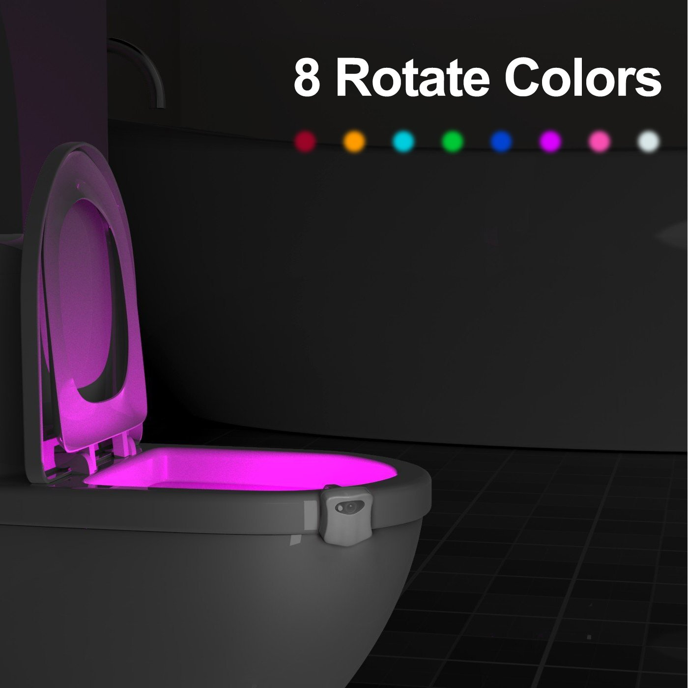 Salle De Wc Toilette Veilleuse Pour Led Eclairage Mouvement Lampe Bainseau Détecteur QxdBrCoeW