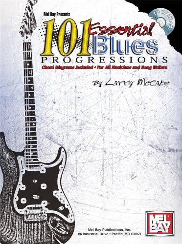 101 Essential Blues Progressions. Partitions, CD pour Guitare