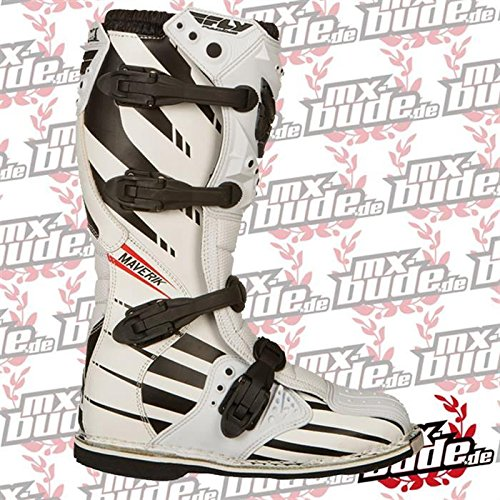 Fly Racing Motocross-Stiefel Maverik Weiß Gr. 43-44