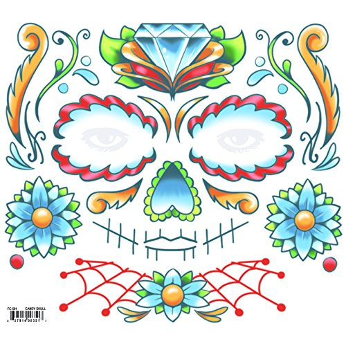 (Tinsley Transfers Tattoo FX FACE CANDY SKULL)