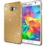 Samsung Galaxy A3 2016 Coque Protection de NICA, Ultra-Fine Glitter Housse Slim Hardcase Paillettes Phone Cover, Etui Rigide Strass Bumper Mince pour Telephone Portable Samsung A3 2016 - Or Jaune