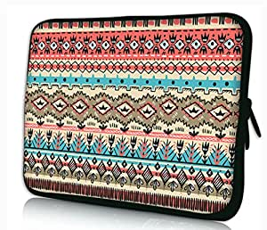 """MySleeveDesign Notebook Sleeve Laptop Neoprene Soft Case Pouch Bag - Available sizes: 10.2"""" / 11.6"""" - 12.1"""" / 13.3"""" / 14"""" / 15.6"""" / 17.3"""" Ancient Signs - 15 Inch"""