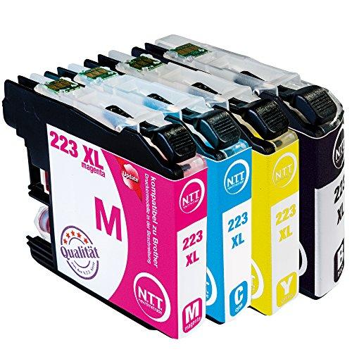 Preisvergleich Produktbild N.T.T.® 4x XL Tintenpatronen kompatibel zu LC-223 , LC-225 , LC-227 (1 Schwarz, 1 Cyan, 1 Magenta, 1 Yellow) für Brother mit aktuellstem Chip DCP-J4120-DW, MFC-J4420-DW, MFC-J4425-DW, MFC-J4620-DW, MFC-J4625-DW, MFC-J5320-DW, MFC-J5625-DW, MFC-J5720-DW, MFC-J5600, MFC-J5620-DW, Druckerpatronen