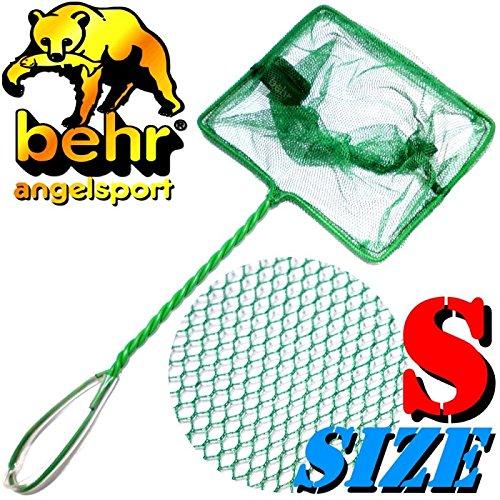 Behr Aquariumkescher Size S Klein ca. 12X8,5X28cm Maschenweite ca. 2-3mm ideal für Aquariumfische, Fischbrut & Lebendfutter