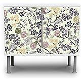banjado–Armario baño 60x 55x 35cm Diseño armario para lavabo con diseño florale Papel pintado