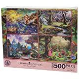 Disney Thomas Kinkade Set of 4 500 Piece Puzzles Puzzle Snow White Little Mermaid Sleeping Beauty Cinderella by Disney