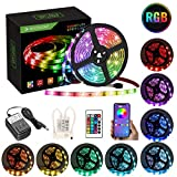 Led Strips Lights, Topsharp16.4ft with Smart APP and 24-Key Remote Control Led Light Strip Dimmable Color Changing Led Strip Lighting Kit with Music Sync Compatible with Android iOS