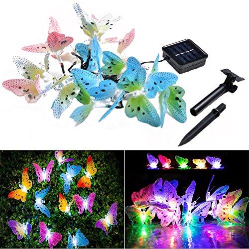 sche Schmetterling in Form von die Sequenz-Licht Solar Garten-Feen von Weihnachten 4.9M (mehrfarbig) ()