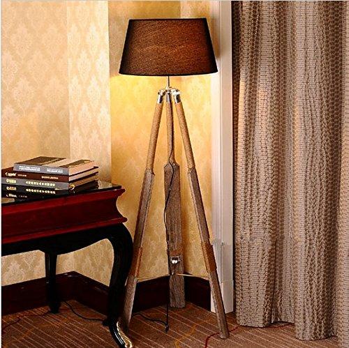Gowe Neuestes Design Fashion Skandinavien Style Holz Stehlampe Boot Stehlampe Lampenschirm Farbe: Weiß