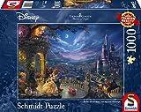 Schmidt Spiele Puzzle 59484 Disney, Die Schöne und Das Biest, Tanz Im Mondlicht, Thomas Kinkade, Puzzle, 1000 Teile -