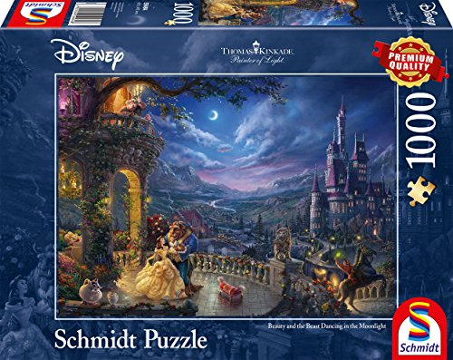 Read Online Schmidt Spiele 59484 Disney Beauty and the Beast – Dance in the Moonlight Puzzle RTF