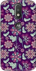 The Racoon Lean printed designer hard back mobile phone case cover for Motorola Moto G Plus 4th Gen. (Pink Bloom)