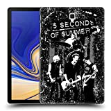 Head Case Designs Offizielle 5 Seconds of Summer Live Grau Gruppenbild Montage Ruckseite Hülle für Samsung Galaxy Tab S4 10.5 (2018)