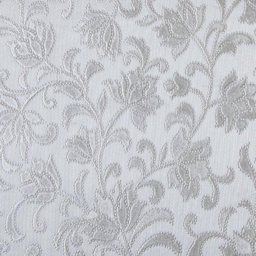 Silberfarbener Prägedruck, abwaschbare Tischdecke aus PVC, rechteckig, silber, 140 x 150 cm