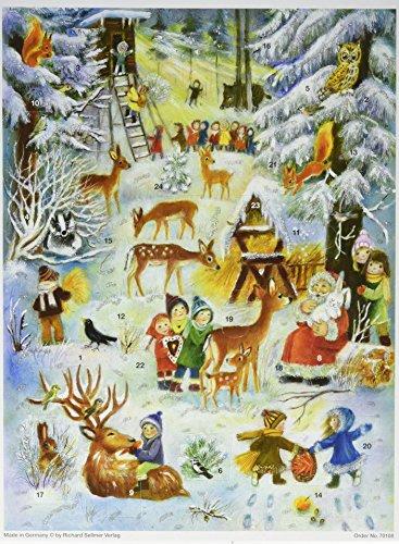 """Adventskalender """"Tierweihnacht im Wald"""": Papier-Adventskalender"""