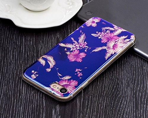 EKINHUI Case Cover Für Apple IPhone 7 Fall, ultra dünnes leichtes Gewicht-Luxuxlicht-TPU Silikon-Gel-schützende rückseitige Abdeckung ( Color : A ) E