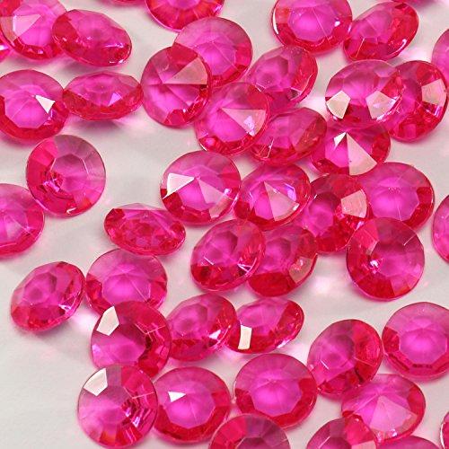 Acryl-Diamanten-Set pink 400 Stück ✓ Ø ca. 1,2 cm groß ✓ bezaubernde Plastik-Streu-Deko für Hochzeit Tischschmuck Geburtstag Tischdeko ✓ Diamant-Deko-Steine für Dekozwecke | trendmarkt24 - 2120601 (80er-jahre-rose)