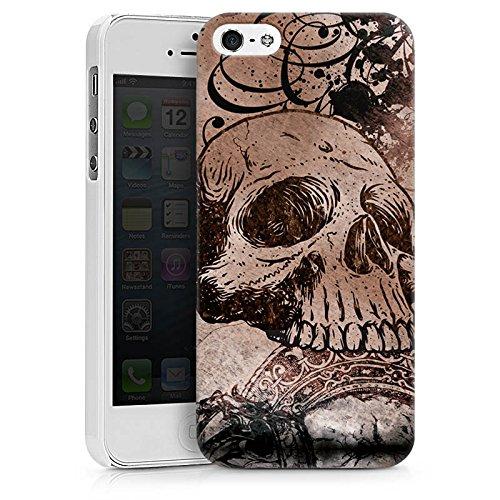 Apple iPhone X Silikon Hülle Case Schutzhülle Halloween Totenkopf Skull Hard Case weiß
