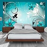 murando - Fototapete 200x140 cm - Vlies Tapete - Moderne Wanddeko - Design Tapete - Wandtapete - Wand Dekoration - Blumen Ornament b-A-0044-a-c