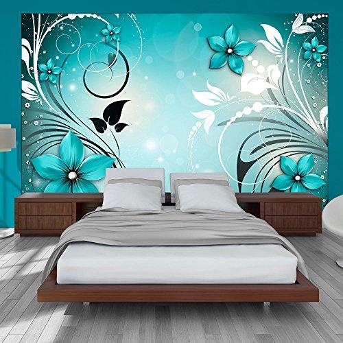 murando - Fototapete 300x210 cm - Vlies Tapete - Moderne Wanddeko - Design Tapete - Wandtapete - Wand Dekoration - Blumen Ornament b-A-0044-a-c