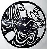 Orologio in Vinile da Parete LP 33 Giri Instant Karma Idea Regalo Vintage Handmade - Parrucchiere Salone Bellezza Barbiere Barber Shop Beauty Salon