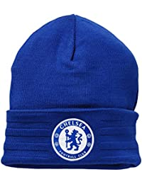 adidas Unisex Chelsea 3 Stripe Woolie Hat Blue Beanie Football Club  Knitted(Size  One ed6aa374d445