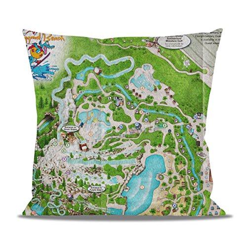 Queen of Cases Blizzard Beach Map Fleece Cushion - Square Cushion - 20x20in Kissenbezug