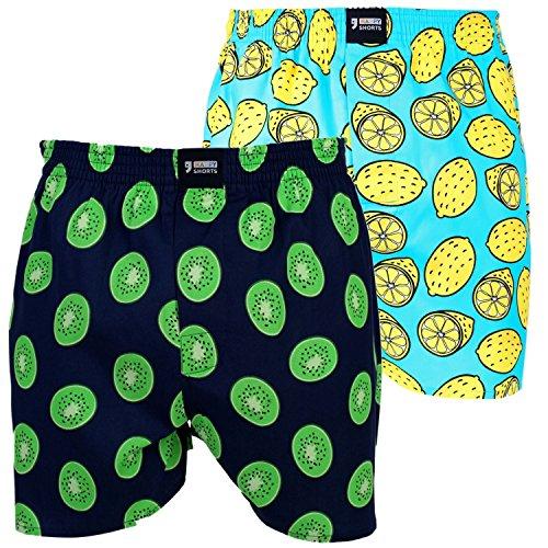 Happy Shorts 2 Webboxer Herren Boxer Motiv Boxershorts Design 17, Grösse:M - 5-50, Präzise Farbe:Design 17