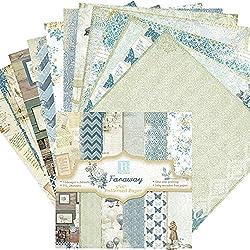"Cheerfulus 12 Designs Scrapbook Paper Diy Album Scrapbook Cards Paper Pack 6"" X 6"""