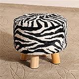 Kreative Tuch Freizeit Massivholz Hocker Massivholzwechsel Schuh Hocker Fußschemel Test Schuh Hocker Runde Gepolsterte Fußschemel 4 Holz Bein Pouffes Hocker Stoff Abdeckung YYdy-Small wooden stool ( farbe : # 6 )