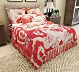 Home Candy Polycotton 120 TC Double Bedsheet with 2 Pillow Covers - Red