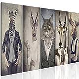 murando Bilder Hirsch 225x90 cm - Leinwandbilder - Fertig Aufgespannt - Vlies Leinwand - 5 Teilig - Wandbilder XXL - Kunstdrucke - Wandbild - Natur Tier Landschaft g-B-0041-b-m