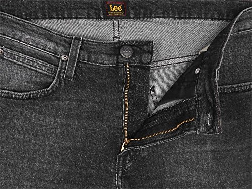 Lee Herren Straight Jeans Daren Zip Fly Schwarz (Black Raw RGUX)