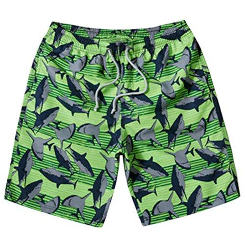 Männer Short Strand Shorts Casual Quick-dry-Sport-Schwimmen Trunk Grün