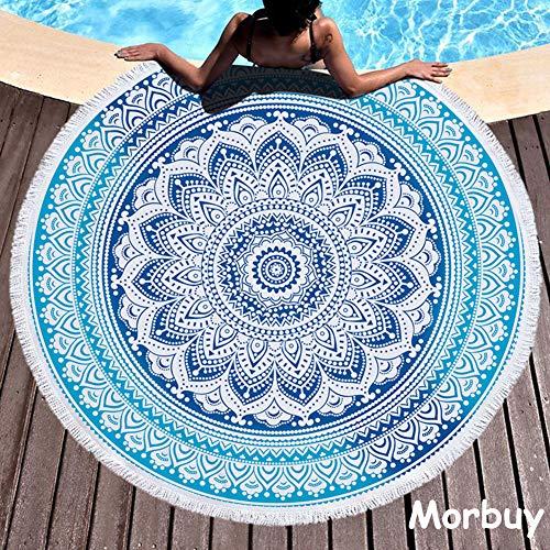 Morbuy Toalla de Playa Redonda